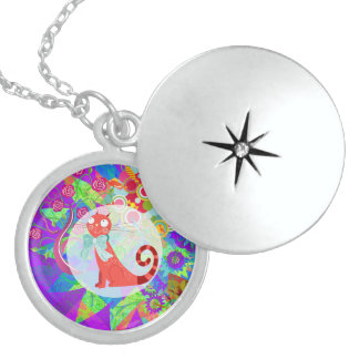Pretty Kitty Crazy Cat Lady Gifts Vibrant Colorful Necklaces