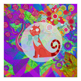 Pretty Kitty Crazy Cat Lady Gifts Vibrant Colorful Print