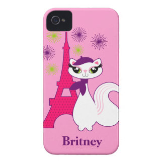 Pretty Kitty Paris Personalized iPhone 4 Case-Mate Cases