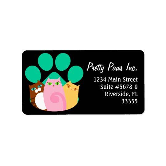 Pretty Kitty Paw Label
