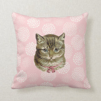 Pretty Kitty Vintage Style Cushion