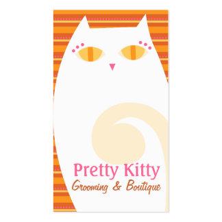 Pretty Kitty White & Orange Stripes Business Card