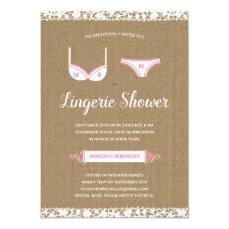 Pretty Lace   Lingerie Bridal Shower Invite