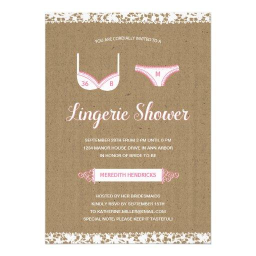 Pretty Lace | Lingerie Bridal Shower Invite