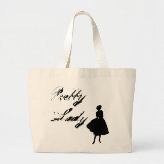 Pretty Lady Large Tote Bag