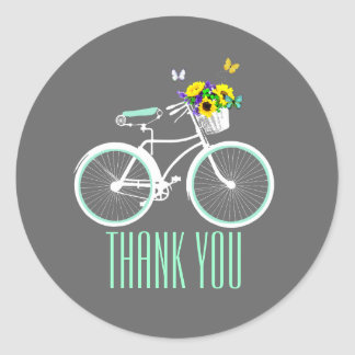 Pretty Lady s Bicycle Bridal Shower Sticker