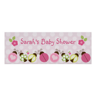 Pretty Ladybugs & Flowers Poster/Banner Poster