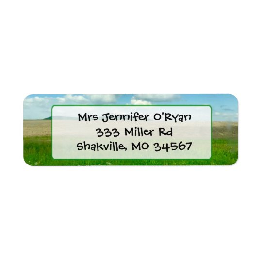 Pretty Landscape Nature Return address Label