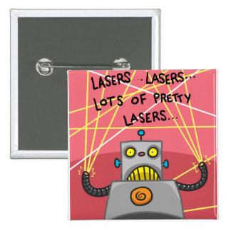 Pretty Lasers 15 Cm Square Badge