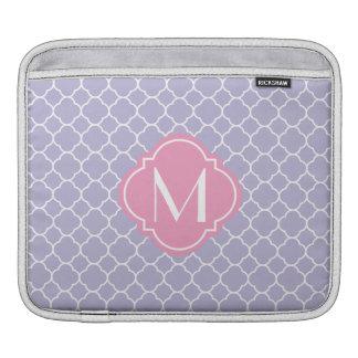 Pretty Lavender Quatrefoil Pattern iPad Sleeve