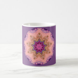 Pretty Lavender Star Fractal Coffee Mug
