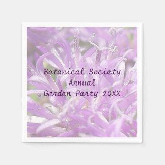 Pretty Lavender Wild Flowers Garden Party Disposable Serviette