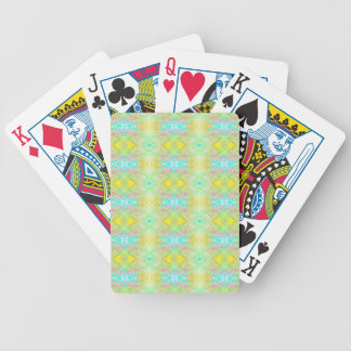 Pretty Lemon Lime Blue Pastel Tribal Pattern Bicycle Playing Cards