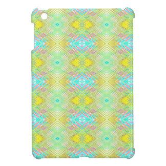 Pretty Lemon Lime Blue Pastel Tribal Pattern iPad Mini Cases