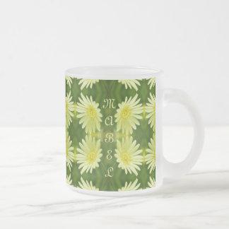 Pretty Lemon Yellow Daisy Flower Green Cute Nature Coffee Mug