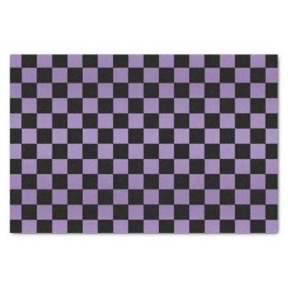 Pretty light Purple and Black Checks Tissue Paper