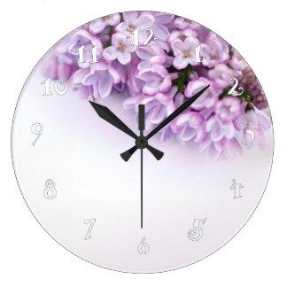 Pretty lilac, beautiful wall clock