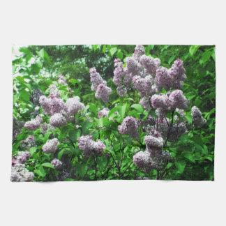 Pretty Lilac Bush Tea Towel