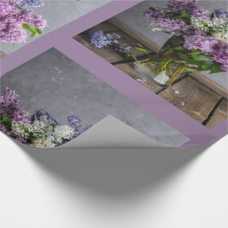 Pretty Lilacs in Vase Gift Wrapping Paper