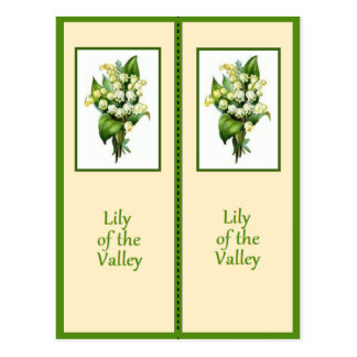 Pretty Lily of the Valley Bookmark Postcard