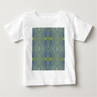 Pretty Lime Blue Artistic Pattern Baby T-Shirt