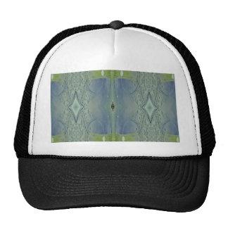 Pretty Lime Blue Artistic Pattern Cap