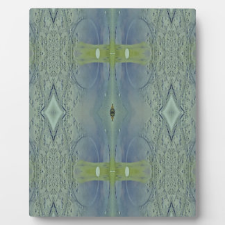 Pretty Lime Blue Artistic Pattern Plaque