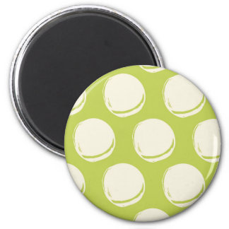 Pretty Lime Green Abstract Circles Pattern 6 Cm Round Magnet