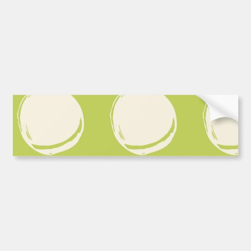 Pretty Lime Green Abstract Circles Pattern Bumper Sticker