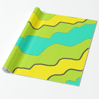 Pretty Lime Green & Yellow Modern Gift Wrap Paper