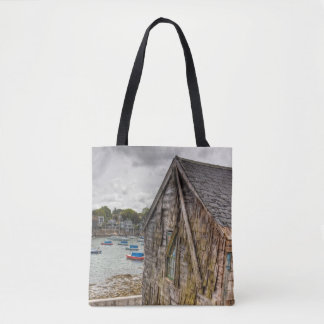 Pretty little beach shack tote bag