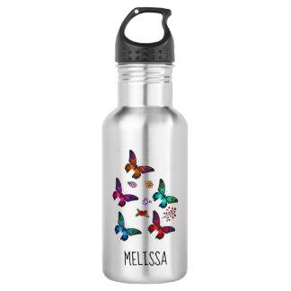 Pretty Little Butterflies Custom Name 532 Ml Water Bottle