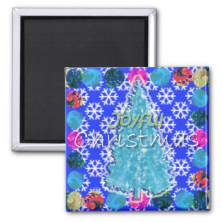 Pretty Little Christmas Tree Square Magnet