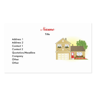 Pretty Little House Business Card Templates