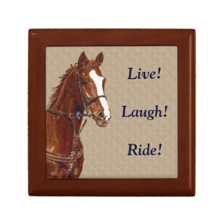 Pretty Live! Laugh! Ride! Horse Gift Box