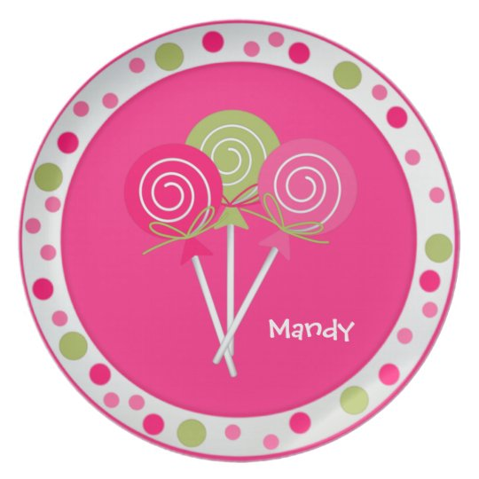 Pretty Lollypops Custom Plate