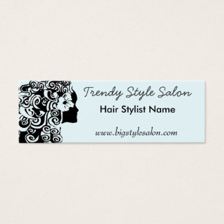 Pretty Long Curly Curls Hair Woman Fashion Mini Business Card