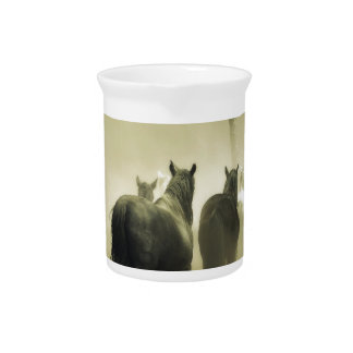 PRETTY LOOKING HORSES PITCHER