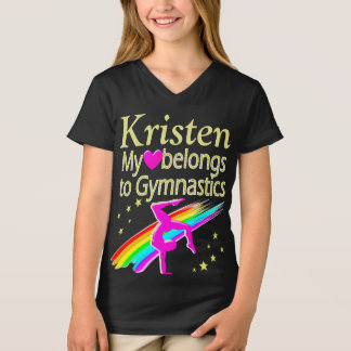 PRETTY LOVE GYMNASTICS PERSONALIZED T SHIRT