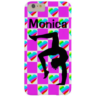 PRETTY LOVE HEART PERSONALIZED GYMNAST PHONE CASE