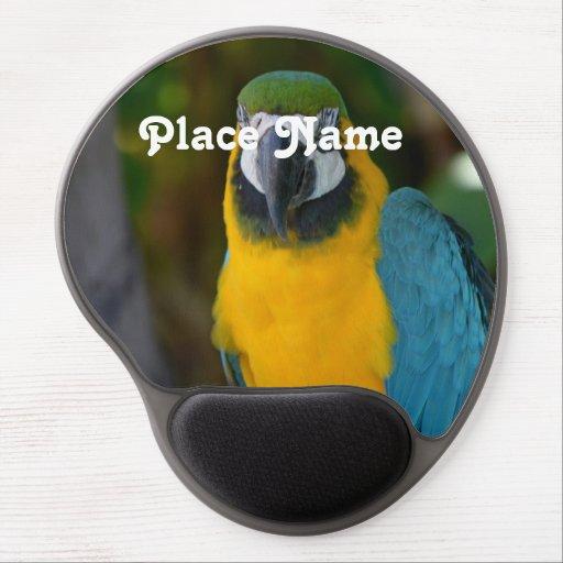 Pretty Macaw Gel Mousepads