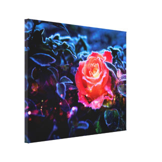 Pretty Magic Frosted Pink Fantasy Rose Garden Canvas Prints