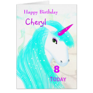 Pretty Magical Mythical Unicorn Personalised Card