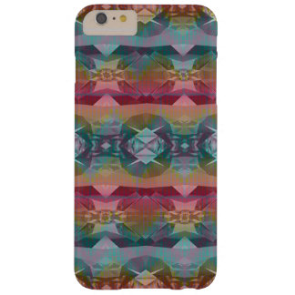 Pretty Maroon Tan and Turquoise Bohemian Pattern Barely There iPhone 6 Plus Case
