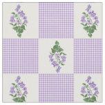 Pretty Mauve Faux Patchwork Sweet Violets Fabric