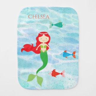 Pretty Mermaid Baby Burp Cloth