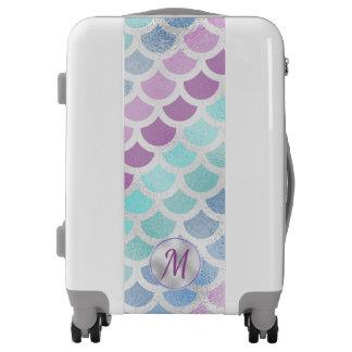 Pretty Mermaid Scales Luggage
