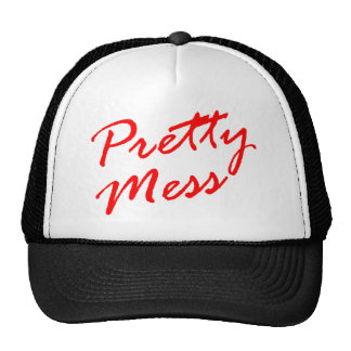Pretty Mess Circuit Party Boy Messy KiKi Cap Lid Mesh Hats