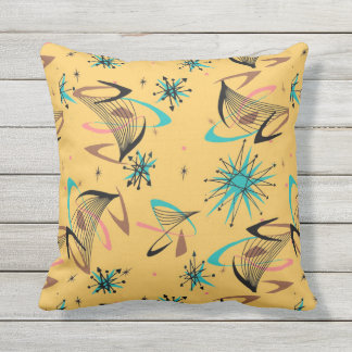 Pretty, Mid Century Modern, Abstract Pattern Outdoor Cushion