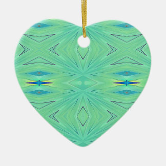 Pretty  Mint Green Aqua Pastel Spring Ceramic Ornament